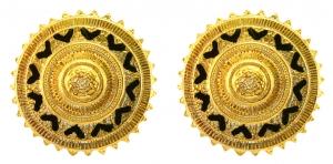Golden Sun Earring Studs