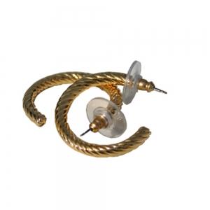 Goldplated Hoop Apiral Earrings