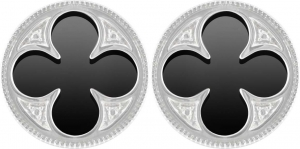 Gothic Quatrefoil Earrings (Black Onyx)