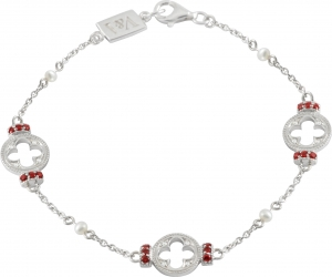 Gothic Quatrefoil Garnet Bracelet