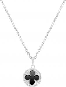 Gothic Quatrefoil Necklace (Black Onyx)