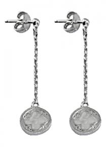 Gothic Quatrefoil Pearl Enamel Earrings