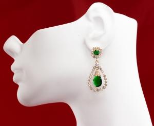 Grand Jewelled Vert Earrings