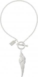 Heavenly Wing Bracelet (Plain Silver) (1 Side Flat)