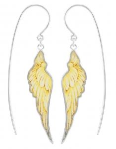 Heavenly Wing Earrings (Printed MOP)