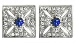 Imperial State Crown Cross Stud Earrings