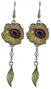 Jewels of Nature Sunflower Earrings