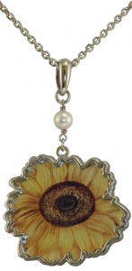 Jewels of Nature Sunflower Pendant