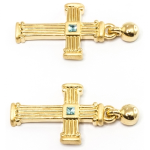 Medieval Cross Ear Studs