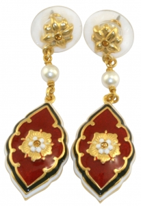 Medieval Floral Rouge Earrings