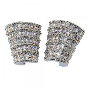 Meryl Streep Crystal Ribbed Earrings