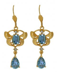 Orchid Delight Blue Earrings