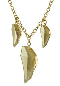 Origins Clear Crystal Claw Necklace