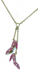 Pink Shoe Charm Necklace