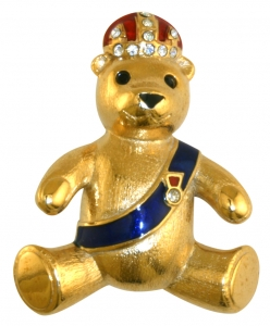 Prince Teddy Brooch