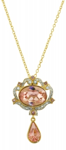 Princess Margaret Rose Ornate Necklace