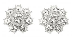 Queen Elizabeth II Floret Clip On Earrings