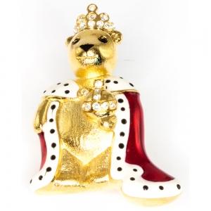 Queen Teddy Brooch