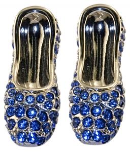 Sapphire Slippers Earrings
