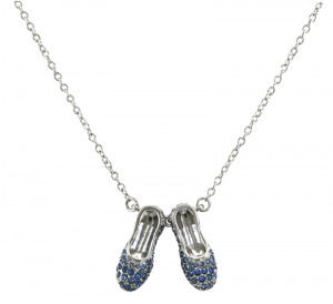 Sapphire Slippers Necklace
