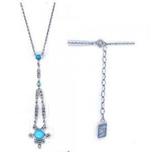 Silver Art Deco turquoise Pendant