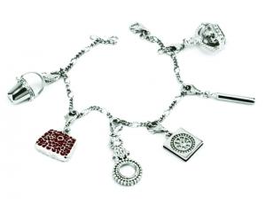 Silver Chatelaine Charm Bracelet