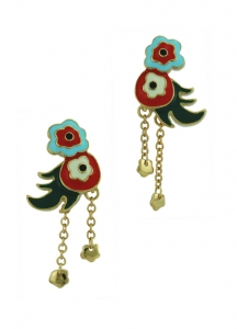Silver Floral dancing Earrings gold-plated