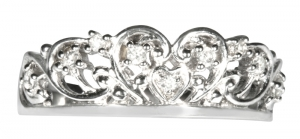 Spencer Tiara Ring Sterling Silver available with Diamonds or CZ