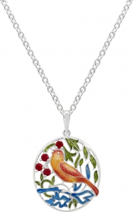 Strawberry Thief Necklace
