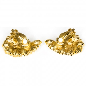 Treasures of the Earth Crystal Gold Plated Earrings