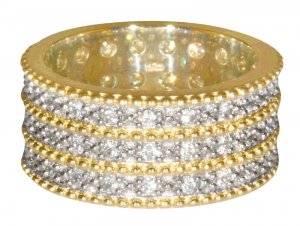 Triple Band from George IV Diadem Ring - Gold Plated