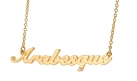 'Arabesque' Pendant Polished Gold Plated