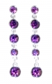 Amethyst Crystal Fringe Tiara Earrings