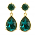 Angelina Jolie Emerald Crystal Drop Earring