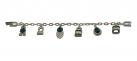 Art Deco Vert Charm Bracelet