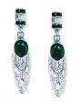 Art Deco Vert Earrings