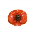 August Poppy Small Brooch Pin