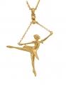 Ballerina Arabesque Pendant - Gold Plated