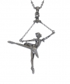 Ballerina Arabesque Pendant - Hematite Plated