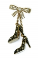 Black Shoe Charm Brooch