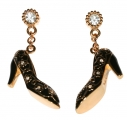 Black Shoe Charm Earrings