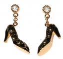 Black Shoe Charm Earrings