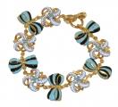 Blue Bows Bracelet