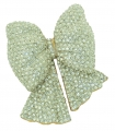 Bow Clear Crystal Brooch