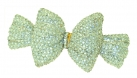Bow Clear Crystal Hair Clip