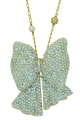 Bow Clear Crystal Necklace