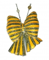 Bow Yellow Enamel and Crystal Necklace
