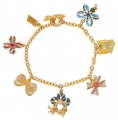 Bows through-the-ages charm bracelet