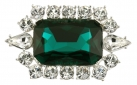 British Crown of India Emerald Crystal Brooch