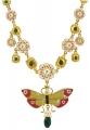 Butterfly Floral Enamel Necklace